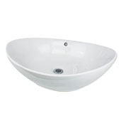 Oblong White Vessel Sink, 23-1/8'W x 15-1/4'D x 7-3/4'H