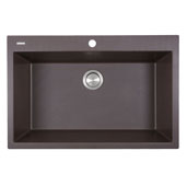 Plymouth Collection 33'' Dual-Mount Granite Composite Sink in Matte Brown, 33'' W x 22'' D x 11'' H