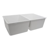Plymouth Collection 50/50 Double Bowl Undermount Granite Composite White, 30-5/8'' W x 18'' D x 9-9/16'' H