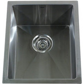 Pro Series Rectangle Undermount Small Radius Stainless Steel Bar/Prep Sink, 15''W x 18''D x 10''H