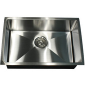 Pro Series Rectangle Single Bowl Undermount Small Radius Corners Stainless Steel Kitchen Sink, 16 Gauge , 30''W x 18''D x 10''H