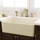 Bisque Fireclay Farmhouse Kitchen Sink, 30-1/4''W x 18''D x 10''H