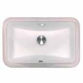 Nantucket Sink Undermount Ceramic Bathroom Sink in White, 17-1/8'' W x 11-1/4'' D x 7-1/2'' H