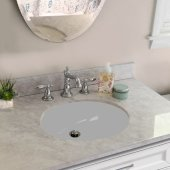 Great Point Collection Vitreous China Bath Ceramic Undermount Sink in White, Inside Bowl: 15'' W x 12'' D  x 5-1/2'' H