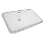 Great Point Collection 23-1/2'' Rectangular Undermount Ceramic Vanity Bathroom Sink in Porcelain Enamel Glaze White, 23-1/2'' W x 14-1/2'' D x 7-1/4'' H