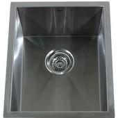 Rectangular Center Drain Bar/Prep Sink, 15''W x 18''D