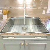 Pro Series Collection 33'' W Large Rectangle Single Bowl Self Rimming Zero Radius Premium Stainless Steel Topmount Kitchen Sink, 1 Hole, 33'' W x 22'' D x 10'' H