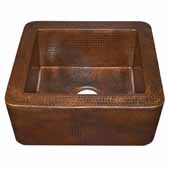 Cabana Bar and Prep Sink in Antique Copper, 18''W x 16''D x 7-1/2''H
