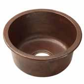 Redondo Grande Bar and Prep Sink in Antique Copper, 17-3/4''Diameter x 9-1/2''H