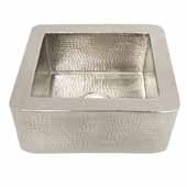 Cabana Bar and Prep Sink in Brushed Nickel, 18''W x 16''D x 7-1/2''H