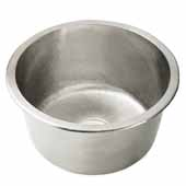 Redondo Chico Bar and Prep Sink in Brushed Nickel, 15''Diameter x 7-1/2''H