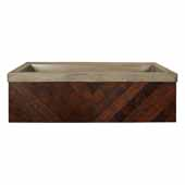 36'' Chardonnay Floating Vanity with NativeStone Trough in Slate, 36''W x18-3/4''D x 14''H