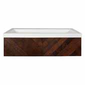 36'' Cabernet Floating Vanity with NativeStone Trough in Pearl, 36''W x18-3/4''D x 14''H