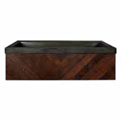 36'' Cabernet Floating Vanity with NativeStone Trough in Slate, 36''W x18-3/4''D x 14''H