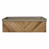36'' Cabernet Floating Vanity with NativeStone Trough in Earth, 36''W x18-3/4''D x 14''H