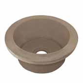 Olivos Bar and Prep Sink in Earth, 16''Diameter x 8''H
