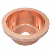 Mojito Bar and Prep Sink in Polished Copper, 16''Diameter x 7-1/2''H