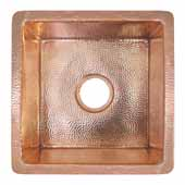 Cantina Bar and Prep Sink in Polished Copper, 15''W x 15''D x 7-1/2''H