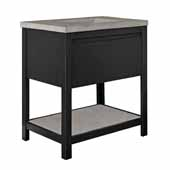 30'' Solace Vanity Base in Midnight Oak with Palomar Vanity Top and Sink, 30-1/2''W x 21-3/4''D x 38-1/2''H