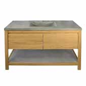 48'' Solace Vanity Base in Sunrise Oak with Palomar Vanity Top and Sink, 30-1/2''W x 21-3/4''D x 38-1/2''H
