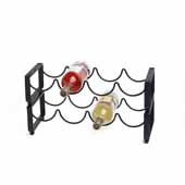 Steel Stackable Wine Rack, 4 Bottle Capacity, 17-1/2'' L x 6-3/4'' W x 4-3/4'' H, Matte Black