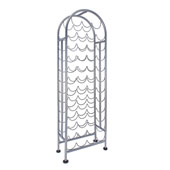 47 Bottle Metal Wine Rack, Antique Pewter Finish