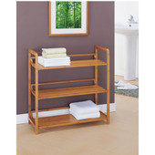Lohas Collection Bamboo 3-Tier Shelf, 27-3/4''W x 12''D x 27-3/4''H
