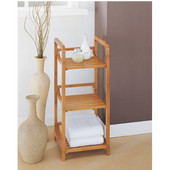 Lohas Collection Bamboo 3-Tier Tower, 12''W x 12''D x 27-3/4''H