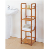 Lohas Collection Bamboo 4-Tier Tower, 12''W x 12''D x 41-1/8''H