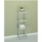 Glacier 4-Tier Shelf, 13-1/4''W x 13-1/4''D x 44''H