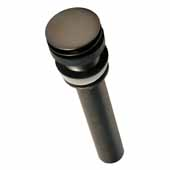 Push To Seal Dome Drain In Oil Rubbed Bronze, 2-1/8''Diameter X 9-1/4''H, Fits 1-1/2'' Drain Opening