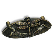 Designs Naturalist Collection 4-5/16'' W Dragonfly Cup Pull in Natural Pewter, 4-5/16'' W x 3/4'' D x 1-13/16'' H, 3'' Center to Center