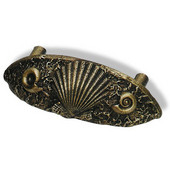 Designs Catalina Collection 4-1/2'' W Sea Shell Cup Pull in Natural Pewter, 4-1/2'' W x 1-1/16'' D x 1-9/16'' H, 3'' Center to Center