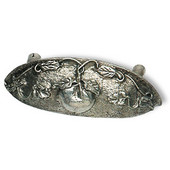 Designs Nature's Collection 4-1/2'' W Tomato Cup Pull in Natural Pewter, 4-1/2'' W x 13/16'' D x 1-5/8'' H, 3'' Center to Center