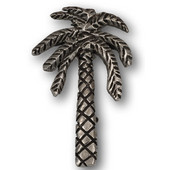 Designs Catalina Collection 1-11/16'' W Large Palm Tree Knob in Natural Pewter, 1-11/16'' W x 13/16'' D x 1-3/4'' H