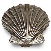 Designs Catalina Collection 1-9/16'' W Sea Shell Cabinet Knob in Natural Pewter, 1-9/16'' W x 1-1/16'' D x 1-7/16'' H