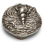 Designs Catalina Collection 1-5/16'' Diameter Round Shell Cabinet Knob in Natural Pewter, 1-5/16'' Diameter x 1-1/16'' D x 1-1/16'' H