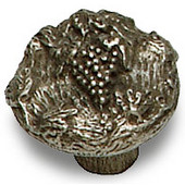 Designs Napa Valley Collection 1-3/16'' Diameter Round Grape Cabinet Knob in Natural Pewter, 1-3/16'' Diameter x 1'' D x 1'' H