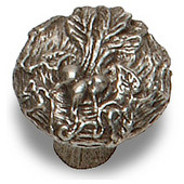 Designs Nature's Collection 1-1/8'' Diameter Round Beet Cabinet Knob in Natural Pewter, 1-1/8'' Diameter x 1'' D x 1'' H