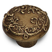 Designs Victorian Collection 1-1/2'' Diameter Ivy Cabinet Knob in Natural Pewter, 1-1/2'' Diameter x 1-1/8'' D x 1-1/8'' H