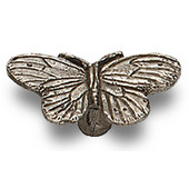 Designs Naturalist Collection 2-3/8'' W Butterfly Cabinet Knob in Natural Pewter, 2-3/8'' W x 15/16'' D x 1-5/16'' H