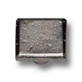 Designs Arizona Collection 1-3/16'' Diameter Traditional Arcadian Square Knob in Shiny Pewter, 1-3/16'' Diameter x 1-3/16'' D x 1-3/16'' H