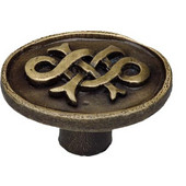 Designs Celtic Collection 1-1/2'' Diameter Oval Cabinet Knob with Celtic Design in Natural Pewter, 1-1/2'' Diameter x 7/8'' D x 1-3/16'' H
