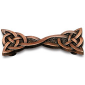 Designs Monarch Collection 4-1/4'' W Double Celtic Knot Cabinet Pull in Natural Pewter, 4-1/4'' W x 1-1/8'' D x 3/4'' H, 3'' Center to Center