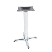 2000-CHS Series X-Style Table Base Stamped Steel, Base Spread 22'' W x 22'' D, Dining Height 28-1/4'' H, Smooth Chrome