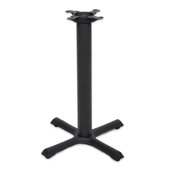 2000 Series Table Height Base, 22'' x 22'', Style X, 28-1/4'' High, Black Matte