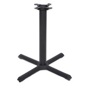 2000 Series Table Height Base, 30'' x 30'', Style X, 28-1/4'' High, Black Matte