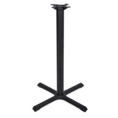 2000 Series Table Bar Height Base, 30'' x 30'', Style X, 40-1/4'' High, Black Matte