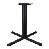 2000 Series Signature Line Style X Table Base 33'' x 33'' Table Height in Black Matte, Base Spread: 33'' W x 33'' D, Spider Spread: 14'' Diameter, Height: 28-1/4'' H