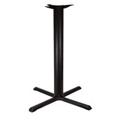 2000 Series Signature Line Style X Table Base 33'' x 33'' Bar Height in Black Matte, Base Spread: 33'' W x 33'' D, Spider Spread: 14'' Diameter, Height: 40-1/4'' H